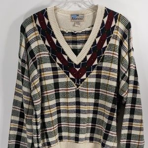 Aeropostale Multi-Color Sweater Large Vintage